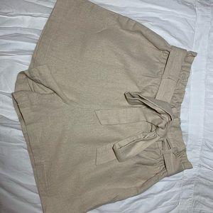 """Paper bag"" tie shorts"